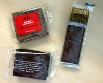 The contenders - Nero, Costa and Starbucks GF Brownies