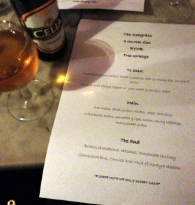 Yummy menu and BYO(GF)B at The Seagrass