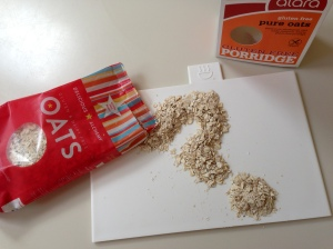 ...gluten free oats