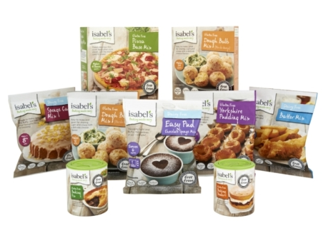 The full Isabel's range - including the new dairy free products launching in July!