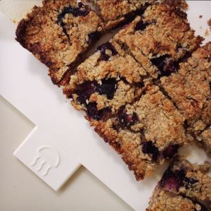 Healthier Flapjacks made with frozen blueberries