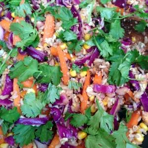 Rainbow fried rice