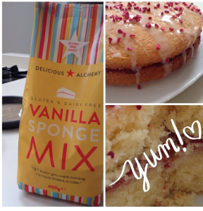The new product range includes a gluten and dairy free sponge mix