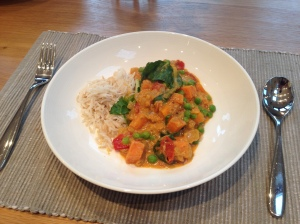 5 types of veg in my lentil & coconut curry