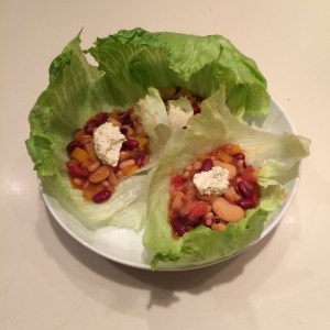 Another slow cooker dish - this time a smoky vegan 5 bean chilli topped with soured cashew cream