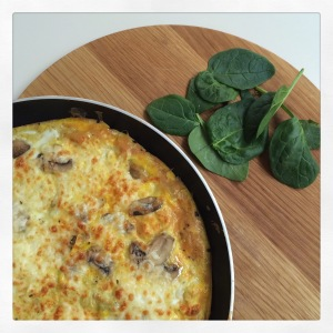 I've been making lots of omelettes and frittatas as cheap, protein & vegetable packed meals. I always make extra so I have leftovers for a quick breakfast! Why not try my 'frugal frittata'?