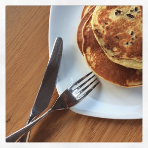 The oasis in my low-carb desert: post-workout pancakes!