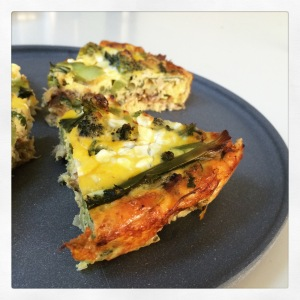 More yummy smoked fish in this crustless 'quiche' with smoked mackerel and purple sprouting broccoli. Much easier than wrestling with gluten free pastry!
