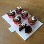 Chocolate & Banana Fudgey Frosted cupcakes with Udi's (GF, DF, EG, SF)