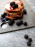 Blackberry & Apple Protein Pancakes (GF DF SyF NF V)