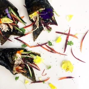 Chicken & Vegetable Nori Wraps with Hoisin