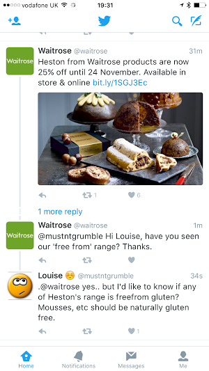 Oh come on, Waitrose, don't just send us to the free from aisle, we'd love to enjoy all of your ranges!